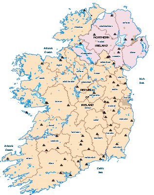 Images Of Map Of Ireland.Bioenergy Installations Map Ireland 2017 Irbea